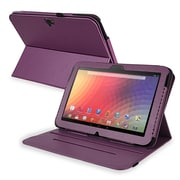 Insten PGOLNEXULC15 Synthetic Leather Folio Case for Google Nexus 10, Purple