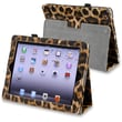 Insten® Leather Case With Stand For Apple iPad 3/4, Black/Yellow Leopard