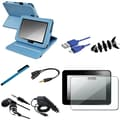 Insten® 1052361 8 Piece Tablet Case Bundle For 7in. Amazon Kindle Fire HD 2012 Edition