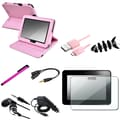 Insten® 1052360 8 Piece Tablet Case Bundle For 7in. Amazon Kindle Fire HD 2012 Edition