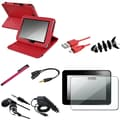Insten® 1052362 8 Piece Tablet Case Bundle For 7in. Amazon Kindle Fire HD 2012 Edition