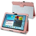 Insten® Leather Case W/Stand For 10.1in. Samsung Galaxy Tab 2 P5100/P5110, Light Pink Crocodile Skin