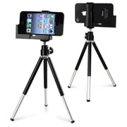 Insten® Fly Tripod Phone Holder For iPhone 5/5S, Black/Silver