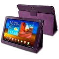 Insten® Leather Case For 10.1in. Samsung Galaxy Tab P7500, Purple