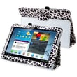 Insten® Leather Case With Stand For 10.1in. Samsung Galaxy Tab 2 P5100/P5110, White/ Purple Leopard