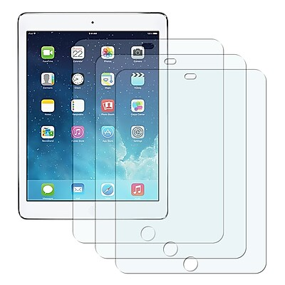 Insten Reusable Anti Glare Screen Protector For Apple iPad Air Clear 3 Pack