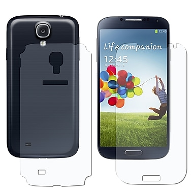 Insten® Front/Back Reusable Screen Protector For Samsung Galaxy S4, Clear