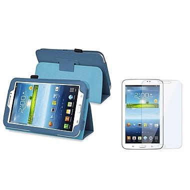 Insten 1175875 Polyurethane Leather Case for 7in. Samsung Galaxy Tab 3, Navy Blue