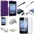 Insten® 799094 10 Piece Universal Case Bundle For Apple iPod Touch 4th Gen
