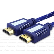 Insten® 25' Premium High Speed HDMI Cable, Mesh Blue
