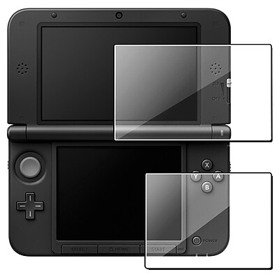 Insten GNIN3DSLSP01 2 LCD Reusable Screen Protector Kit For Nintendo 3DS XL