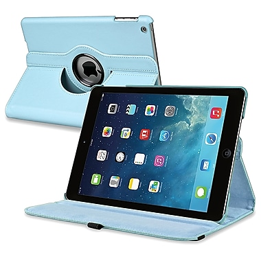 Insten® Leather 360 Deg Swivel Case With Stand For Apple iPad Air, Light Blue
