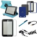 Insten® 1054445 7 Piece Tablet Case Bundle For Barnes & Noble Nook HD