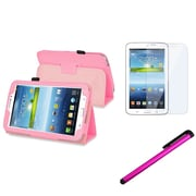 "Insten 1178752 Synthetic Leather Case for 7"" Samsung Galaxy Tab 3 P3200/Kids Tablet, Pink"