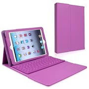 Insten® Leather Case Stand With Bluetooth Keyboard For Apple iPad Mini, Purple