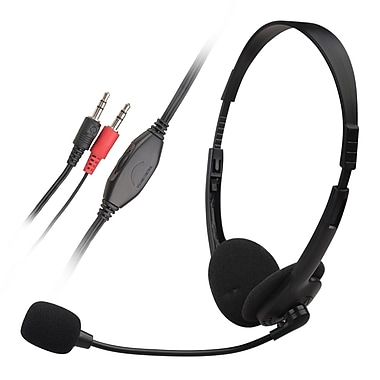 Insten® 6.5' VOIP/SKYPE Hands free Stereo Headset With Microphone, Black