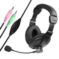 Insten® VOIP/SKYPE Handsfree Stereo Headset With Microphone, Black