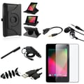 Insten® 908364 9 Piece Tablet Case Bundle For Google Nexus 7 2012 Edition