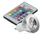 Insten® HGU10LEDWW01 GU10 3 W 16 Color LED Bulb With IR Remote Control