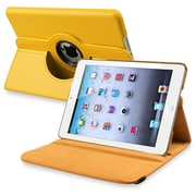 Insten® Leather 360 Deg Swivel Case With Stand For Apple iPad Mini 1/2, Yellow