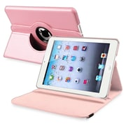 Insten® Leather 360 Deg Swivel Case With Stand For Apple iPad Mini 1/2, Light Pink