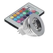 Insten® HMR16LEDWW01 MR16 3 W 16 Color LED Bulb With IR Remote Control