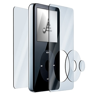 Insten 4 Piece Reusable Shield Kit For Apple iPod Video Clear