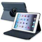 Insten® Leather 360 Deg Swivel Case With Stand For Apple iPad Mini 1/2, Navy Blue