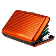Insten® Aluminum Business Card Case With Snap Closure, Orange
