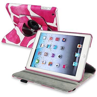 Insten® Leather 360 Deg Swivel Case With Stand For Apple iPad Mini 1/2, Pink Giraffe
