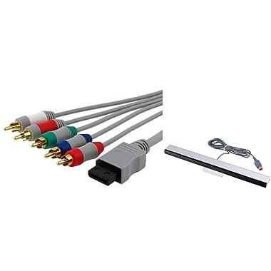 Insten® 676692 2 Piece Game Cable Bundle For Nintendo Wii/Wii U