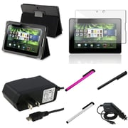 Insten® 799288 7 Piece Universal Case Bundle For BlackBerry Playbook