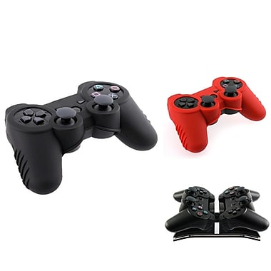 Insten® 240627 3 Piece Game Case Bundle For Sony PS3 Controller