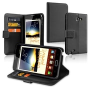 Insten® Leather Wallet Case With Card Holder For Samsung Galaxy Note N7000, Black