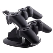 Insten® Dual Charge Station With Stand For PS3 Controller, Black