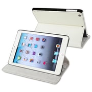 Insten® Leather Case With Stand For  Apple iPad Mini 1/2, White