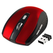 Insten® Wireless Optical Mouse, Red