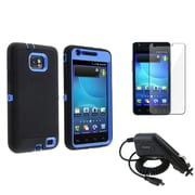 Insten® 509776 3 Piece Universal Case Bundle For Samsung Galaxy S II AT&T i777
