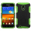 ASMYNA Protector Case With Stand F/Samsung Epic 4G Touch/R760 Galaxy S II/4G, Black/Electric Green