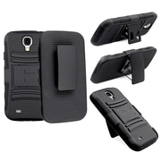 Insten® Hybrid Holster With Stand For Samsung Galaxy S IV/S4, Black/Black