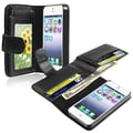 Insten® Leather Case With Wallet For Apple iPhone 5/5S, Black