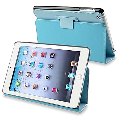 Insten® Leather Case With Stand For Apple iPad Mini 1/2, Blue