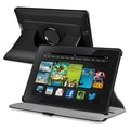 Insten® Leather 360 Deg Swivel Case With Stand For Amazon Kindle Fire HD 7in. 2013, Black