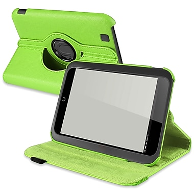 Insten® 360 Deg Swivel Leather Case For Barnes & Noble Nook HD, Green