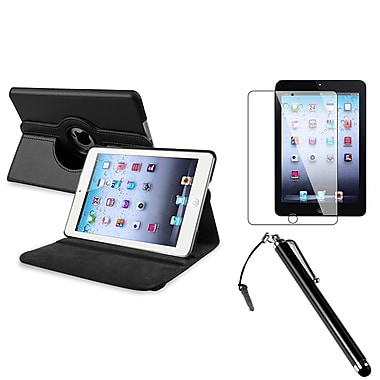 Insten 948645 Leather Swivel Case for Apple iPad Mini with Retina Display Tablet, Black