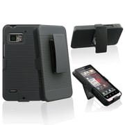Insten® Holster With Stand For Motorola Droid Bionic XT875, Black