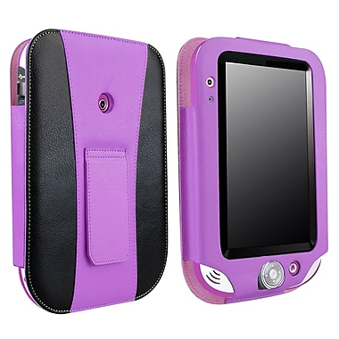 Insten® Leather Case With Stand For Leapfrog LeapPad Ultra, Purple/Black