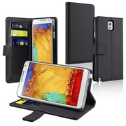 Insten® Leather Case With Stand & Card Slot For Samsung Galaxy Note III N9000, Black