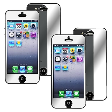Insten® Mirror Screen Protector For Apple iPhone 5/5S/5C, Clear, 2/Pack