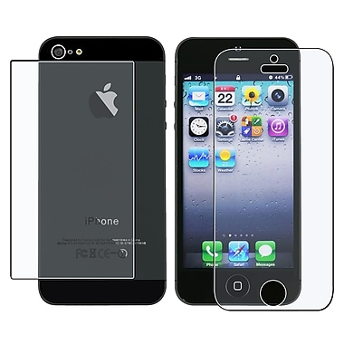 Insten® Front/Back Anti Glare Screen Protector For Apple iPhone 5/5S, Clear